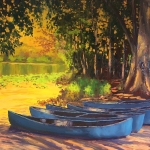 Blue Canoes SOLD