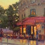 Ile St Louis Cafe at Night