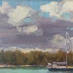 Clouds Clearing Plein Air