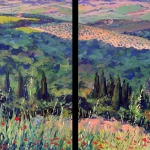Tuscan Landscape, Dyptic