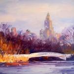 Bow Bridge in Winter, NYC