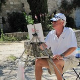 Painting in the village of Oppede le Vieux
