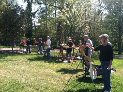 A perfect Day for Plein Air painting!