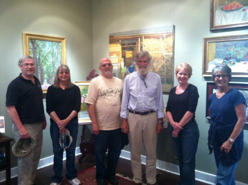 Here are the workshop participants with our host and the owner of Lazare Gallery, John Wurdeman.