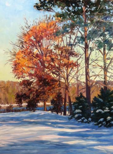 """First Snow"", 40x30 o/c"